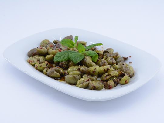 Hattena | Halhalı Taş Kırma Yeşil Zeytin (Çekirdekli) 400 gr