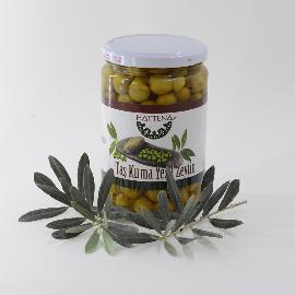 Halhalı Taş Kırma Yeşil Zeytin (Çekirdekli) 500 gr